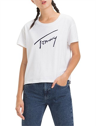 b2c77624a Tjw Satin Detail Tee Special Offer On Sale. Tommy Hilfiger