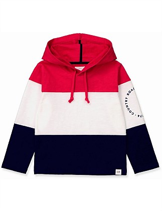 Colour Block Hoodie T-Shirt (Boys 2-12)