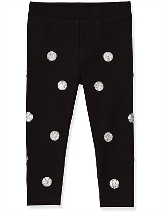 Sequin Spot Legging (Baby Girls 0-2)