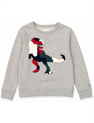 Dino Boucle Sweat (Boys 2-12)
