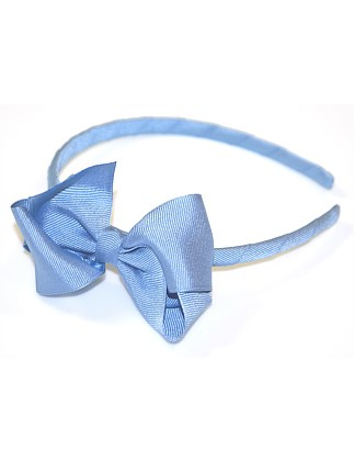 GROSGRAIN TURNED BOW ALICE BAND