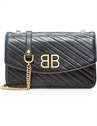BB CHAIN WALLET WITH EMBOSSED LOGO M