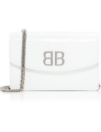 BB CHAIN WALLET EMBOSSED PATENT LEATHER S