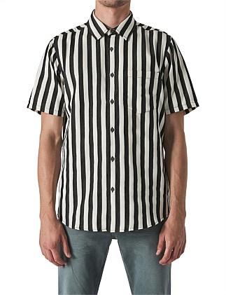 WORK STRIPE SS SHIRT