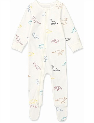 Multi Dino Jumpsuit (Baby Boys 0-2)