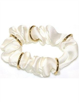 GOLD RING SCRUNCHIE