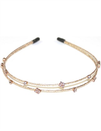 2 LINE DIAMANTE SPARKLE ALICE BAND