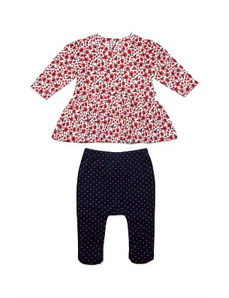 Long Slv Swing Top And Footed Leggings(NB-12M)