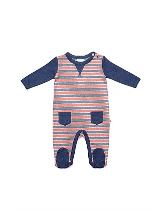 Footed Studsuit(NB-12M)