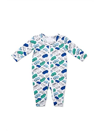 Cotton Elastane Vehicle Zipsuit(NB-12M)
