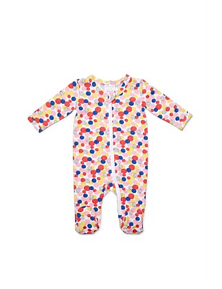 Cotton Elastane Circles Zipsuit(NB-12M)
