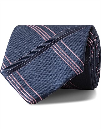 Navy with Pink Check