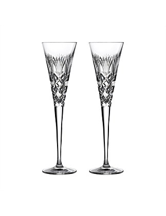 Times Square 2020 Goodwill Clear Flute Pair