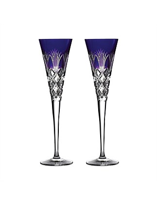 Times Square 2020 Goodwill Purple Flute Pair