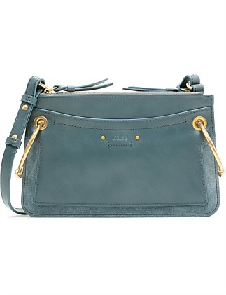 ROY MINI LEATHER GUSSET BAG