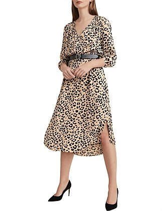 Ocelot Wrap Dress