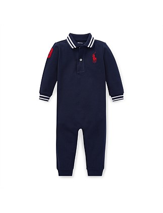 8540c8d0bc168 Cotton Mesh Polo Coverall(3-12 Months) Special Offer. Polo Ralph Lauren