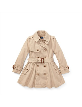 Cotton Trench Coat(2-7 Years)