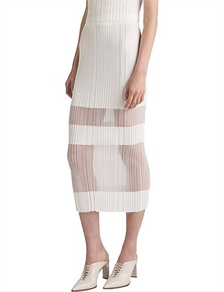 OPACITY PLEAT SKIRT