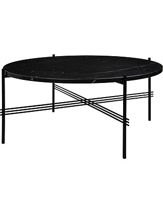 TS Coffee Table Round 80cm Nero Marquina Marble (Black)