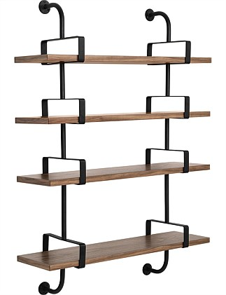 Demon Wall Shelf 4x 95cm shelves walnut 2