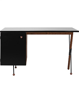 62 Grossman Desk with Black Cabinet 20x60x72cm