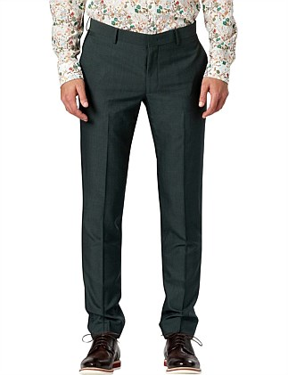 FOREST GREEN SLIM SUIT PANT W9