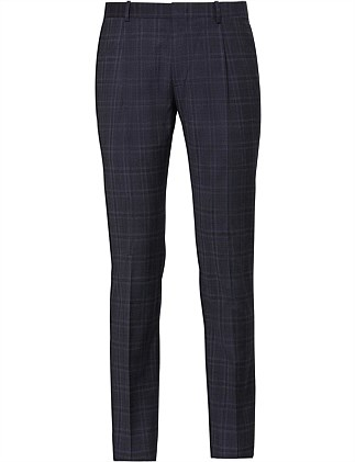 Wool Check Pleat Pant