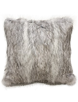 Heirloom Grey Coyote Cushion with Polyester Inner
