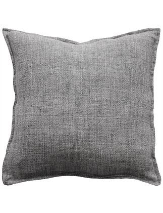 Flaxmill Charcoal Cushion with Feather Inner