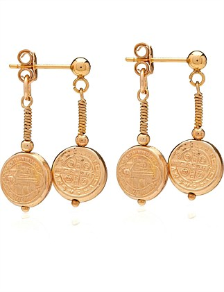 Medallion earring