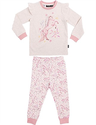 Run Wild Placement Long Sleeve PJ Set (Girls 2-7 Yrs)