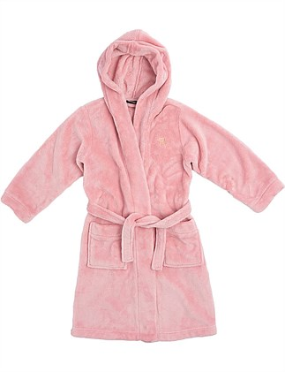 Plush Fleece Hooded Robe (Girls 2-7 Yrs)
