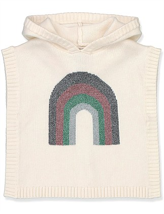 Rainbow Knit Cape