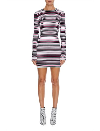 binx stripe knit dress