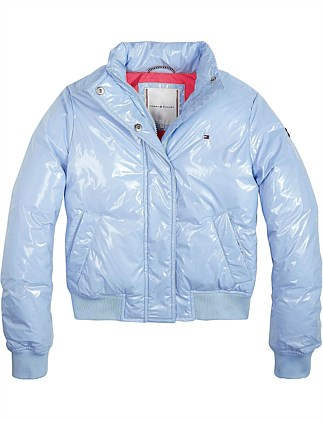 High Shine Boxey Puffer Jacket (Girls 3-7 Years)