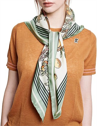 Bad Apple Silk Twill Scarf