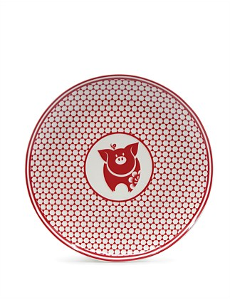 CHARMED PLATE RED 20CM