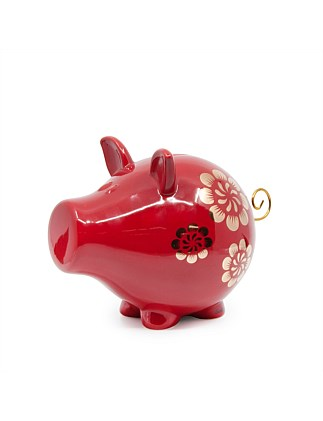 OINK CHARMED MONEY BOX 23CM