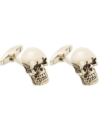 ANTIQUE SKULL CUFFLINK