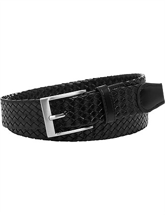 MOSSMAN WEAVE LEATHER BELT