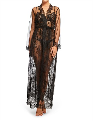Olivia Sheer Long Wrap Gown