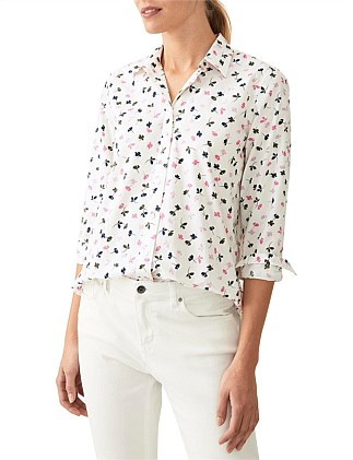 Vine Print Cotton Shirt