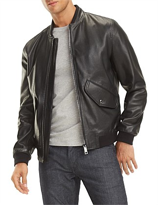 2 MB PERFORATED LEATHER BOMBER