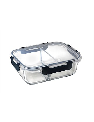 Meal Prep Rectangular Duo Divided Lunch Box 1L