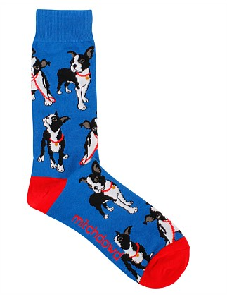 BOSTON PUPS CREW SOCK