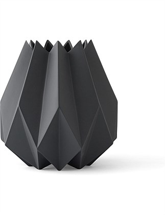 Folded Vase Tall Carbon
