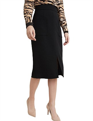 Pocket Front Pencil Skirt