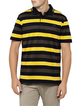 SHORT SLEEVE 3 STRIPED POLO