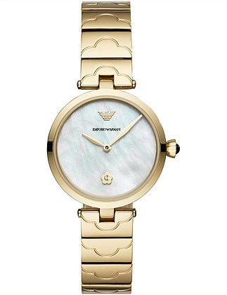 Gold-Tone Analogue Watch